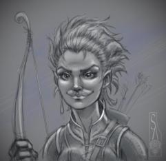 Elven teenage girl