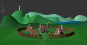 Viking village.
